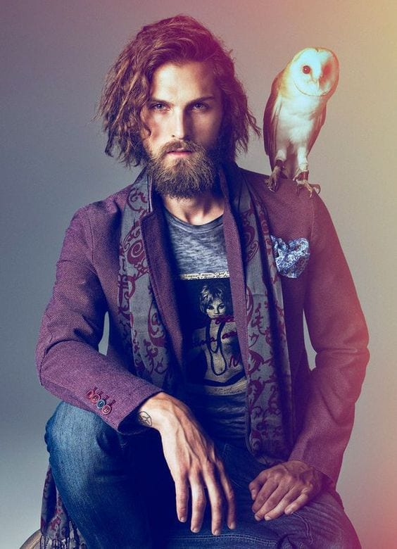 a-printed-scarf Bohemian Outfits for Men – 17 Ways to Get Boho Look for Guys