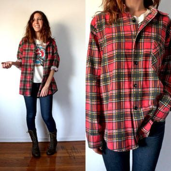 Plaid Flannel Shirt Women