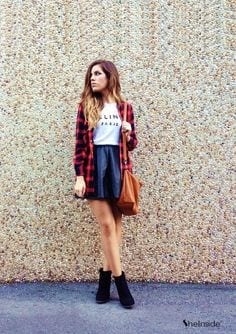 Flannel Outfit Ideas for Women (8)