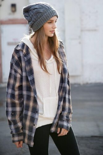 Flannel Outfit Ideas for Women (4)