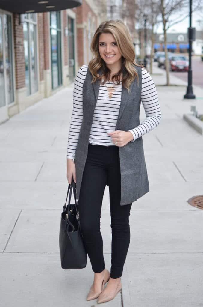 grey-vest-678x1024 What to Wear with a Vest – 20 Best Vest Outfit Ideas for Women