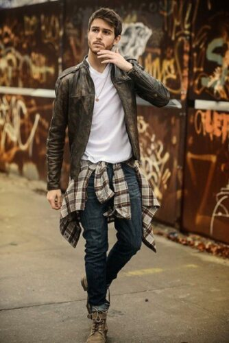 how-to-wear-a-flannel-shirt-around-the-waist-334x500 Guys Flannel Shirts - 20 Best Flannel Outfit Ideas for Men