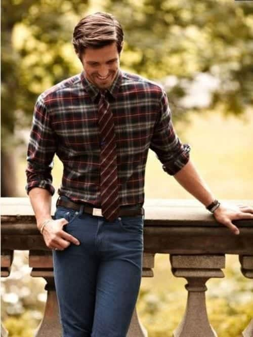 Checkered Shirt Mens
