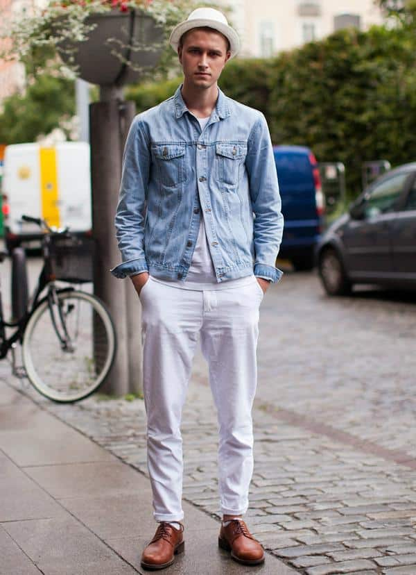 in-summer-1 White Jean Outfits for Men-Top 25 Ideas for White Jeans Guys