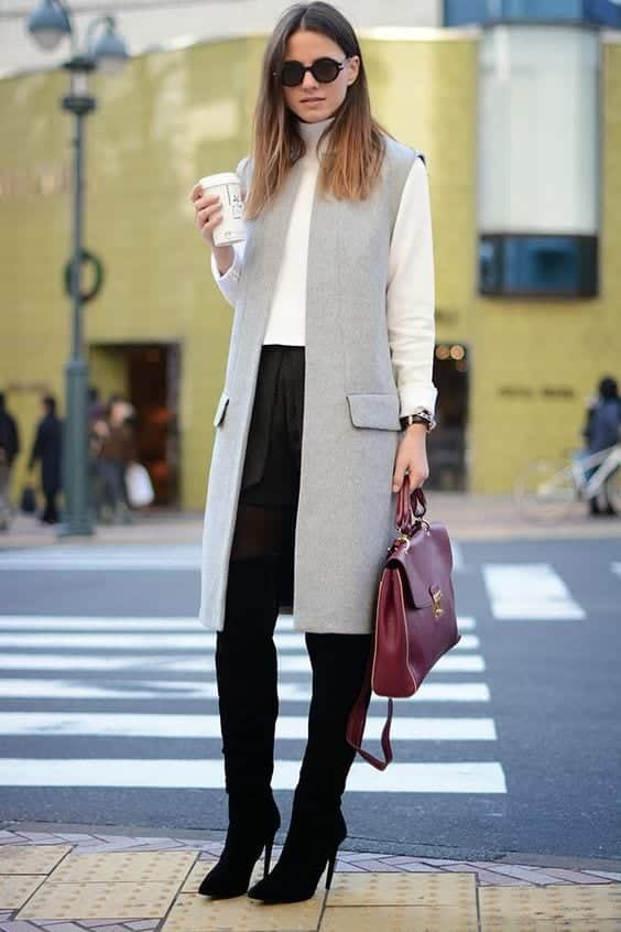 long-vest What to Wear with a Vest – 20 Best Vest Outfit Ideas for Women