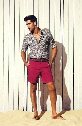 mens-black-and-white-floral-shirt Floral Shirt Outfit for Men-25 Ways to Wear Guys Floral Shirts