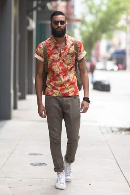 Floral shirt outfit for men 25 ways to wear guys floral shirts for White shirt outfit mens