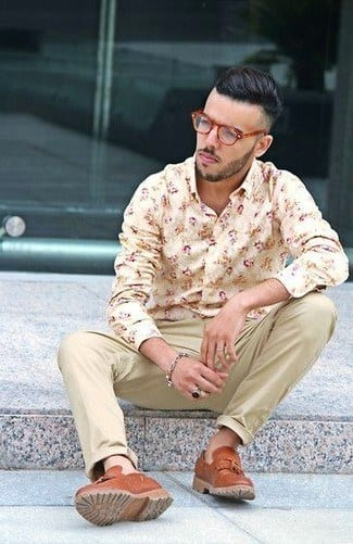 mens-floral-shirts-long-sleeves Floral Shirt Outfit for Men-25 Ways to Wear Guys Floral Shirts