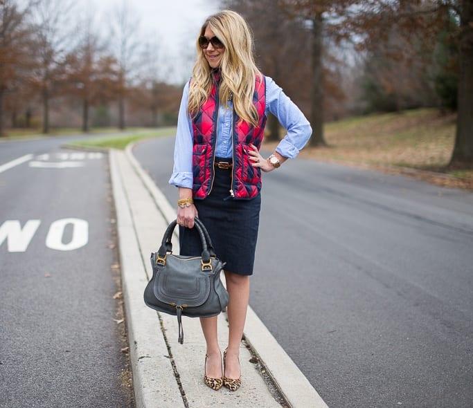plaid-vest What to Wear with a Vest – 20 Best Vest Outfit Ideas for Women