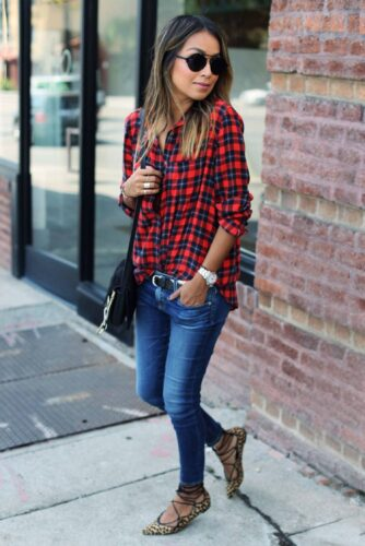 Flannel Outfit Ideas for Women (2)