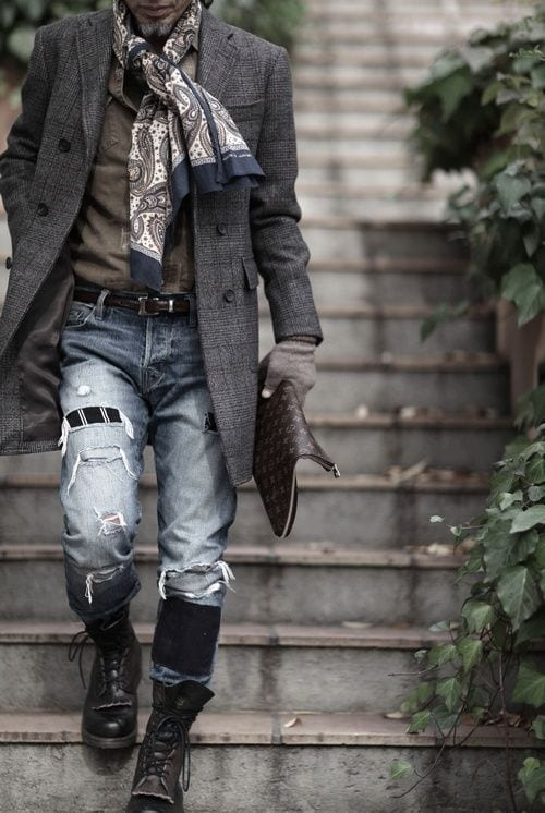 the-ripped-denim Bohemian Outfits for Men – 17 Ways to Get Boho Look for Guys