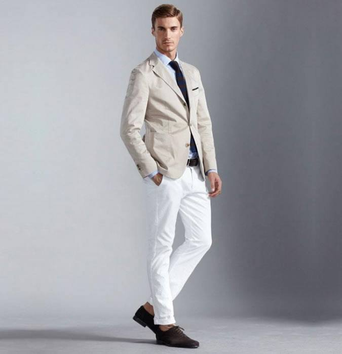 to-a-wedding White Jean Outfits for Men-Top 25 Ideas for White Jeans Guys