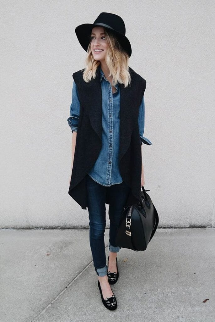 vest-with-dress-shirt-women-685x1024 What to Wear with a Vest – 20 Best Vest Outfit Ideas for Women