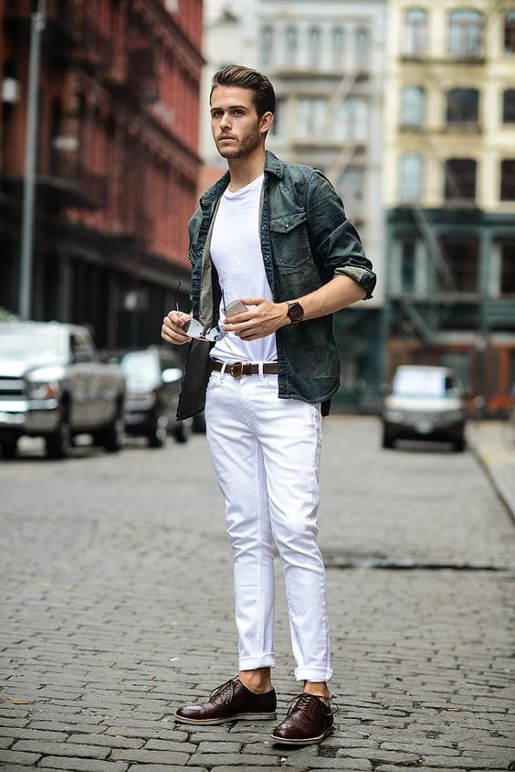 white-jeans-streetwear White Jean Outfits for Men-Top 25 Ideas for White Jeans Guys