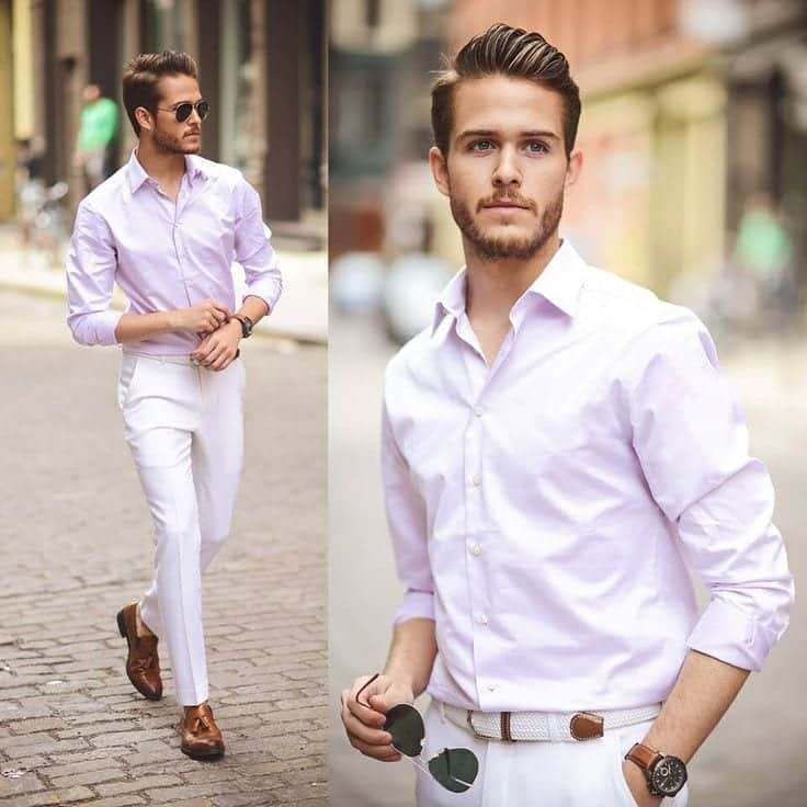 white-pants-outfit-men White Jean Outfits for Men-Top 25 Ideas for White Jeans Guys