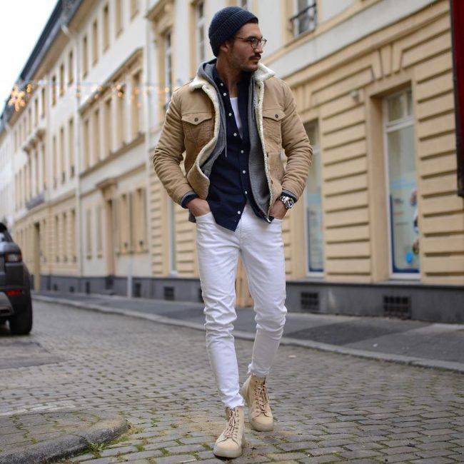 white-slim-fit-jeans White Jean Outfits for Men-Top 25 Ideas for White Jeans Guys