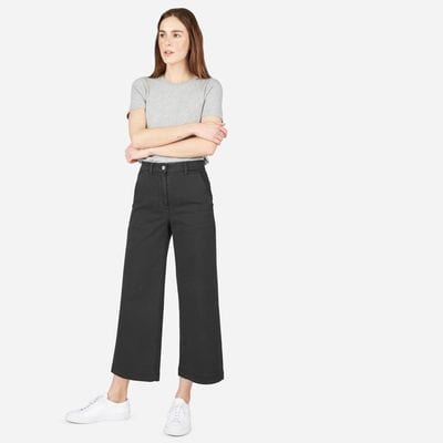 with-a-tee Top 20 Ways to Style Palazzo Pants with Sneakers for Women
