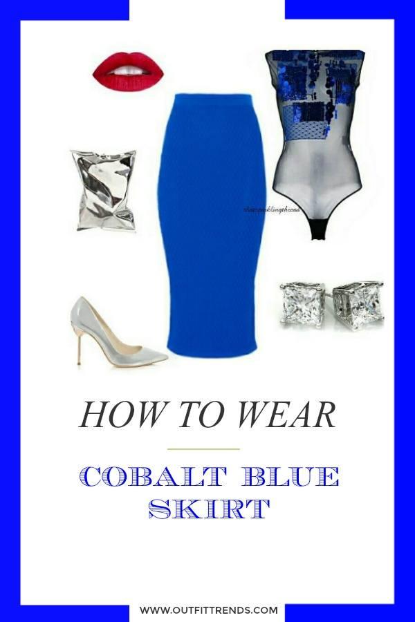 Blocked-In Cobalt Blue Skirt Outfits- 25 Ways to Wear Cobalt Blue Skirt