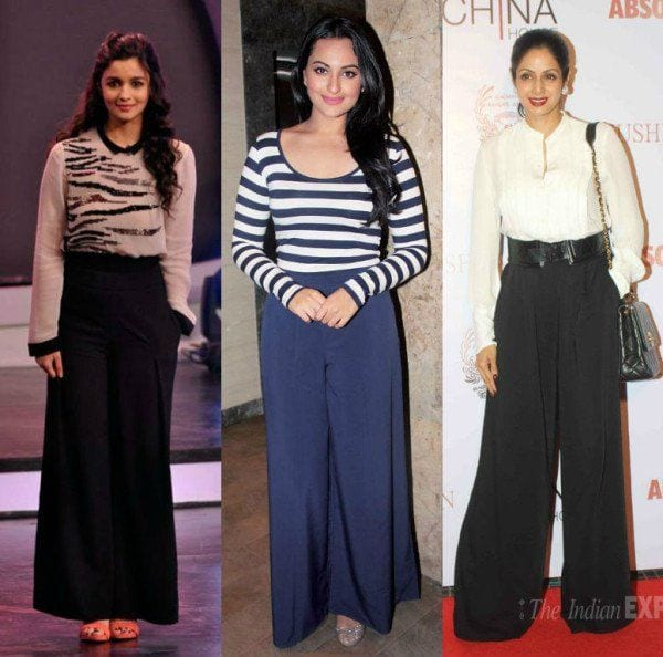 Bollywood-Actresses-Rocking-The-Palazzo-Pants-Outfits 20 Outfit Ideas to Wear Short Shirts with Palazzo Pants