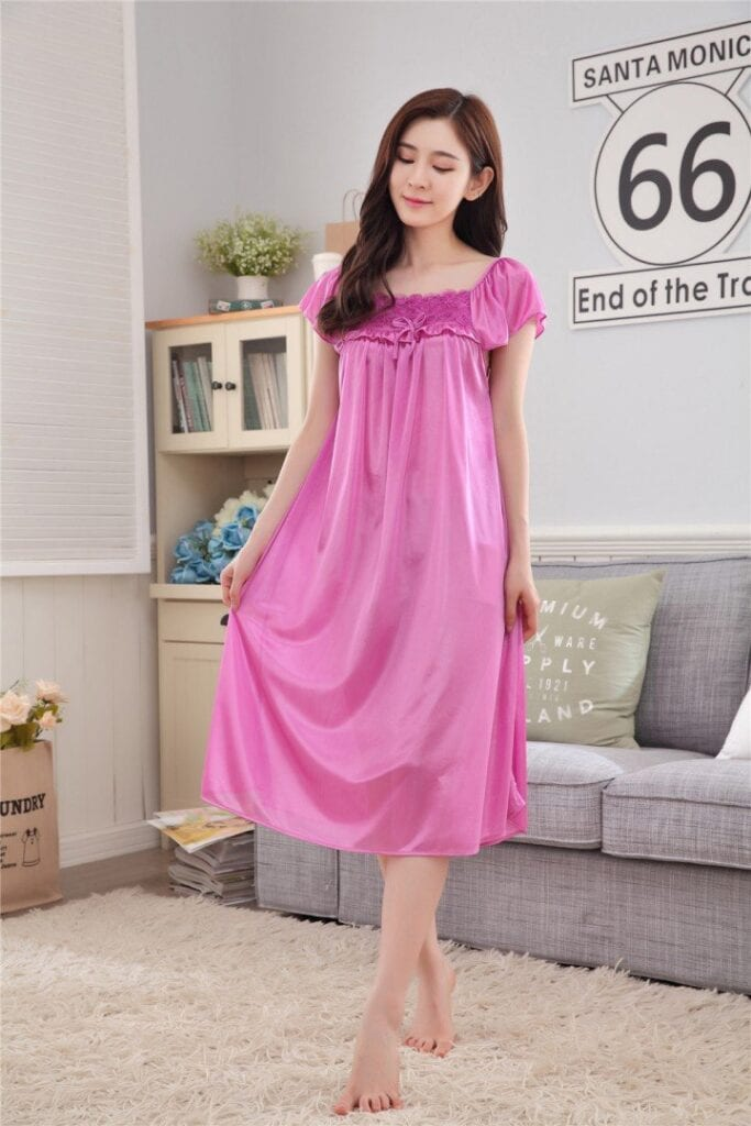 Cute-Pink-Maxi-Dress-683x1024 Girls Summer Home Wear-33 Best Ideas on What to Wear at Home