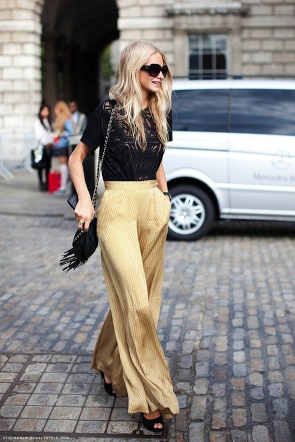 20 Outfit Ideas To Wear Short Shirts With Palazzo Pants