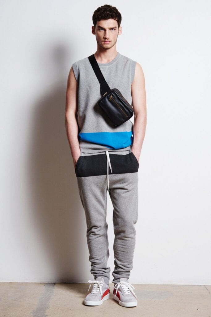 Gym-Shoes-With-Sweatpants-And-Sleeveless-Shirts-683x1024 Men's Sweatpants Shoes-20 Shoes To Wear With Guys Sweatpants