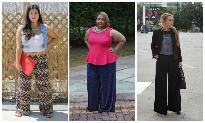 Palazzo-Pants-For-Plus-Size-Women 20 Outfit Ideas to Wear Short Shirts with Palazzo Pants