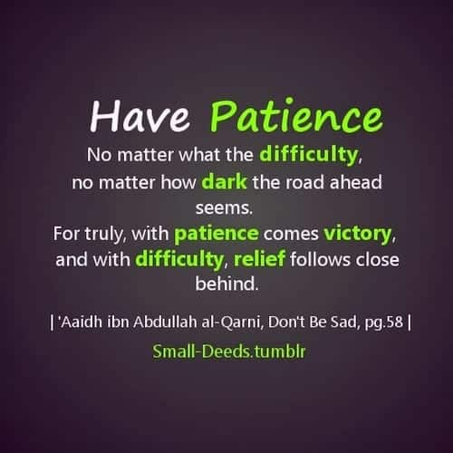 Patience-In-Face-Of-All-The-Difficulties-1 Islamic Quotes About Patience-20 Quotes Described With Essence