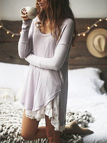 White-Shirt-With-Lace-Hem Girls Summer Home Wear-33 Best Ideas on What to Wear at Home