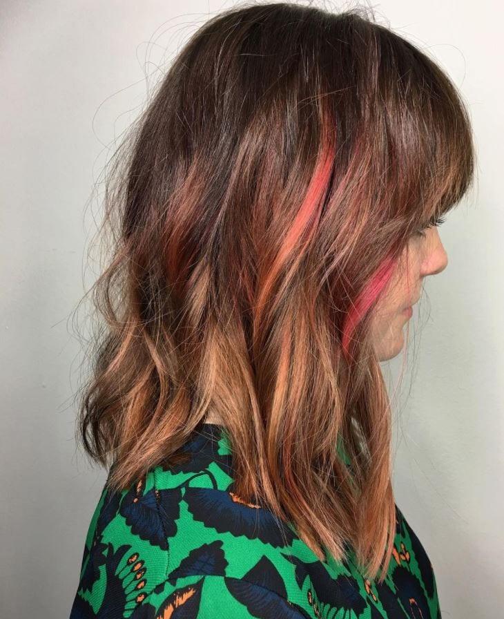 blorange-hair-brunette 30 Cutest Blorange Hair Color, Cut & Styling Ideas for Girls