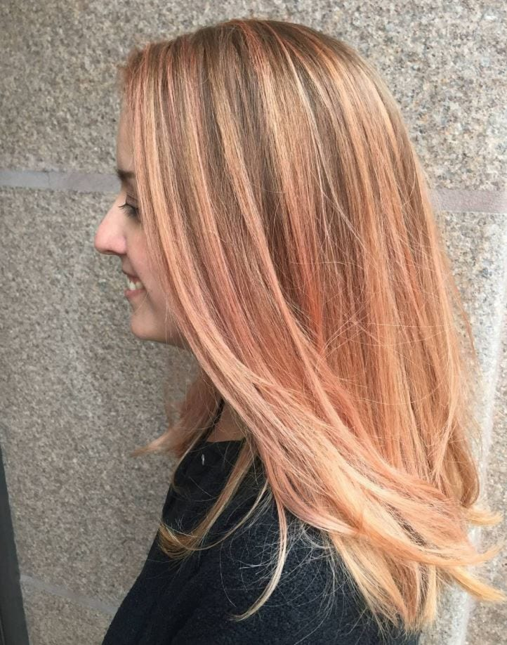 blorange-hair-layers 30 Cutest Blorange Hair Color, Cut & Styling Ideas for Girls
