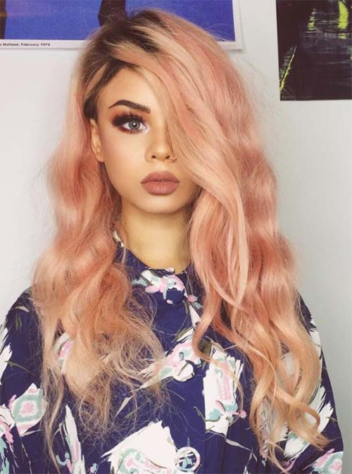 blorange-hair-olive-skin 30 Cutest Blorange Hair Color, Cut & Styling Ideas for Girls