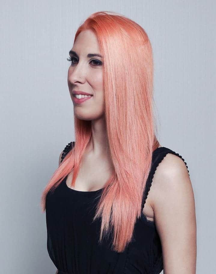 blorange-hair-straight 30 Cutest Blorange Hair Color, Cut & Styling Ideas for Girls