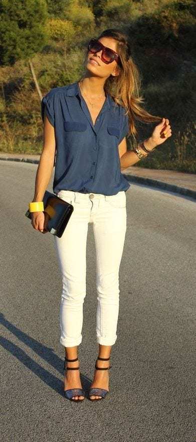 causal 20 Best Pinroll Jeans Outfits for Women– How to Pin Roll Jeans