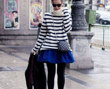 how to wear cobalt blue skirts (14)