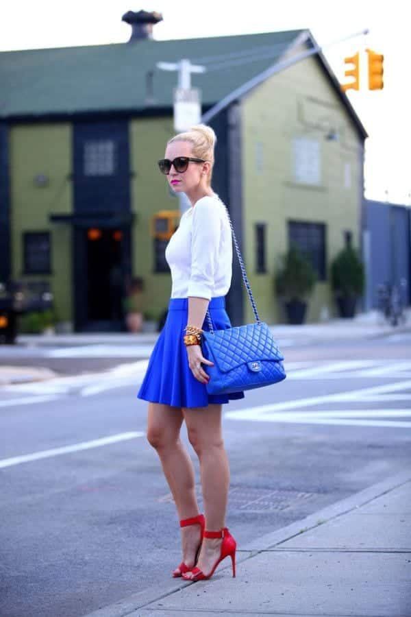 how to wear cobalt blue skirts (12)