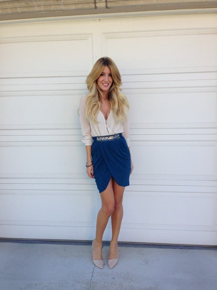 how to wear cobalt blue skirts (2)