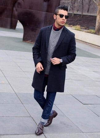 double-monk-strap-shoes-with-jeans 30 Best Men's Outfit Ideas to Wear with Monk Strap Shoes