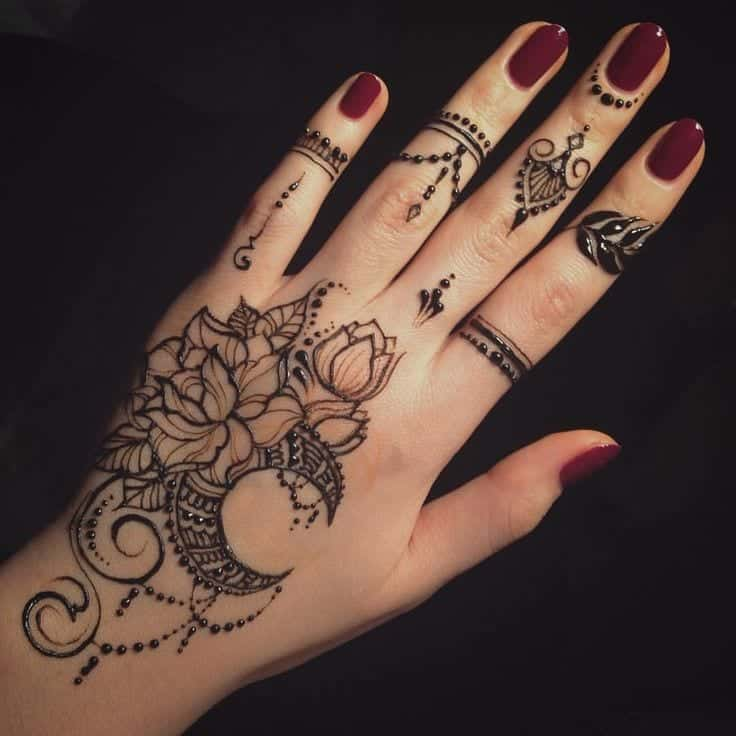 Henna Designs Moon | www.pixshark.com - Images Galleries ...