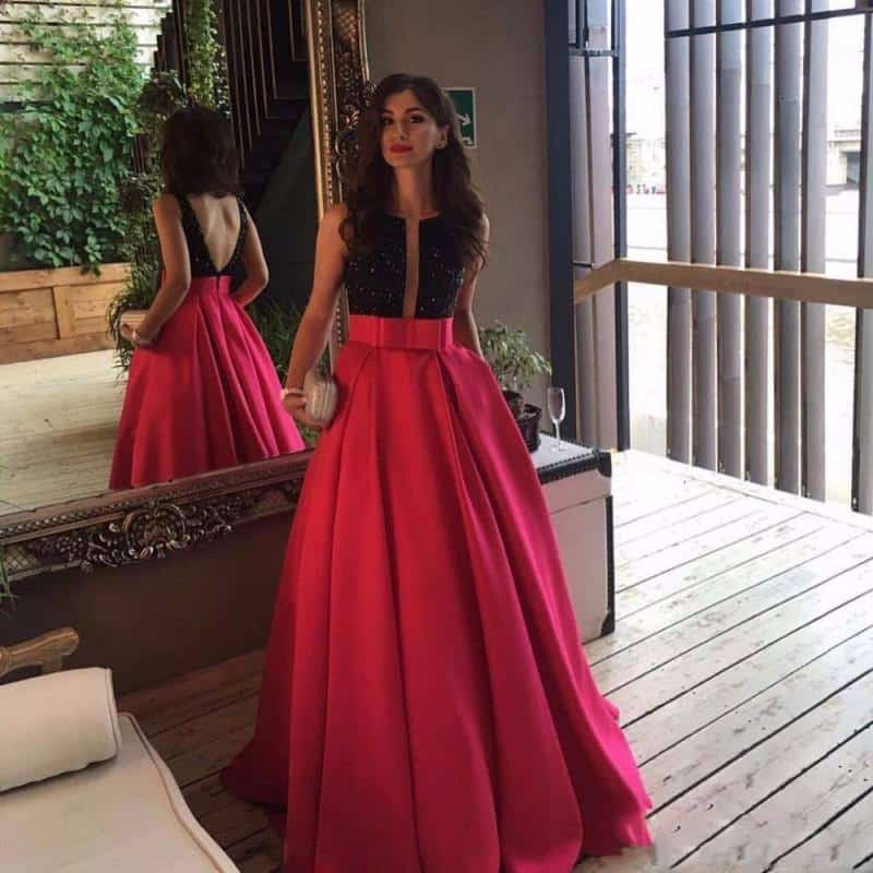 hot-pink-long-skirt Outfits with Pink Skirts-30 Ideas How to Wear Hot Pink Skirts