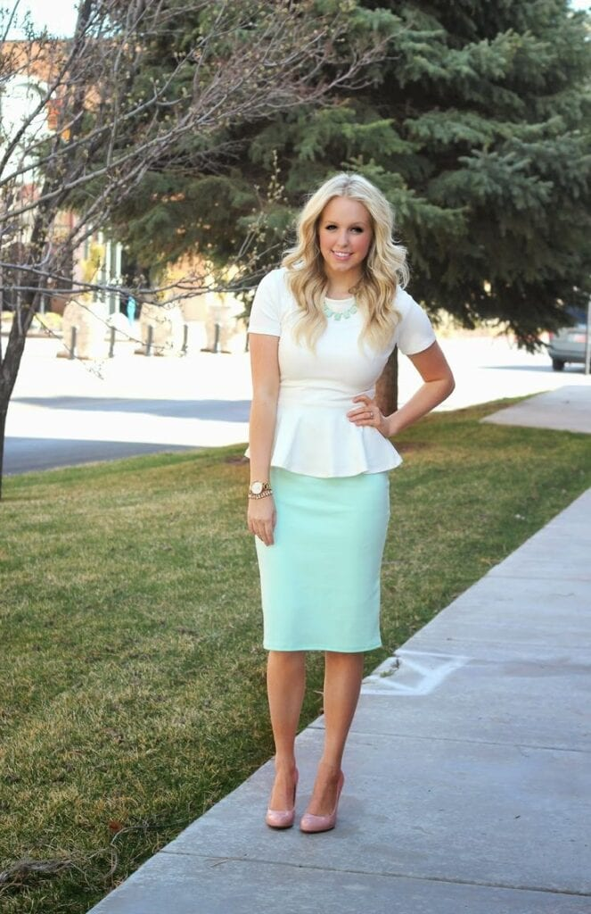 how to wear mint colored skirts (17)