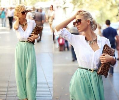 how to wear mint colored skirts (13)