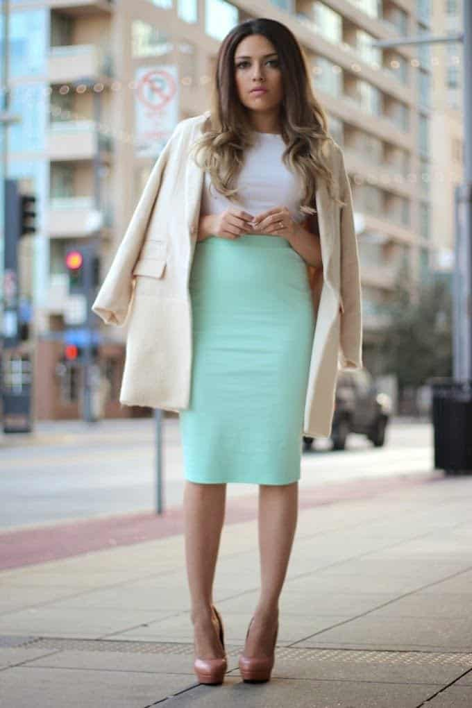 how to wear mint colored skirts (11)