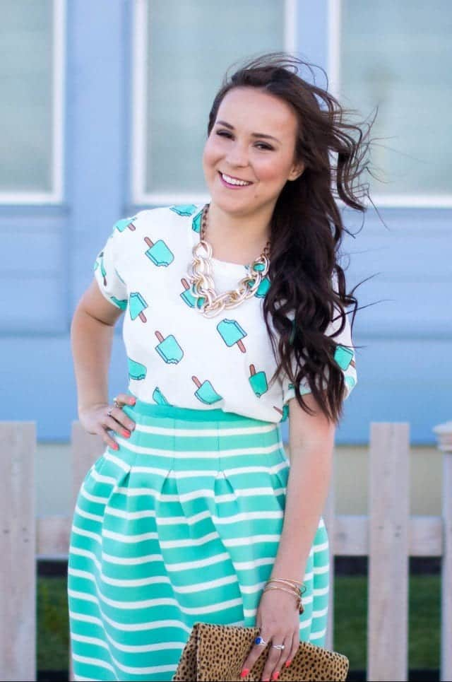 how to wear mint colored skirts (7)
