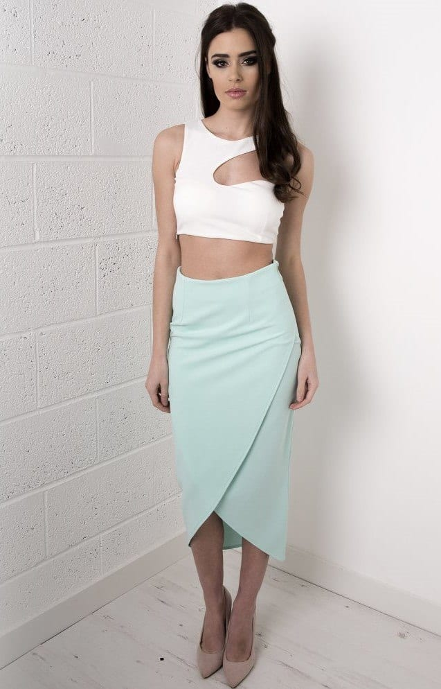 how to wear mint colored skirts (1)