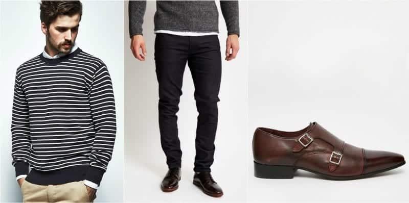 Black Double Monk Strap Shoes Outfit