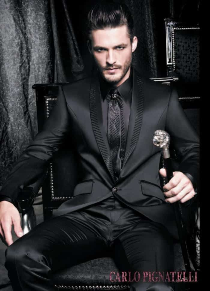 play-with-the-tie Goth Outfits for Guys- 20 ideas How to Get Goth Look for Men