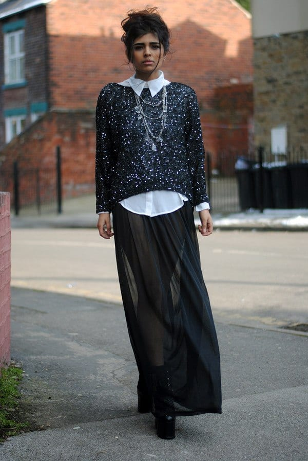 sheer-maxi-skirt Outfits with Sheer Skirts- 20 Ideas How to Wear Sheer Skirts