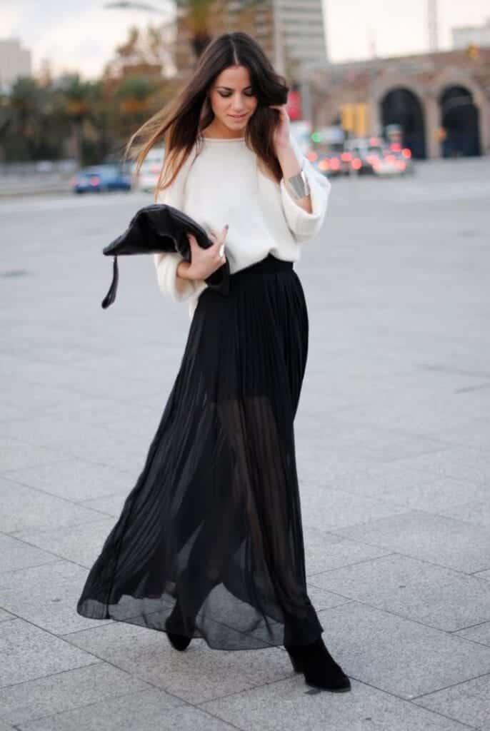 sheer-skirt-and-top-686x1024 Outfits with Sheer Skirts- 20 Ideas How to Wear Sheer Skirts