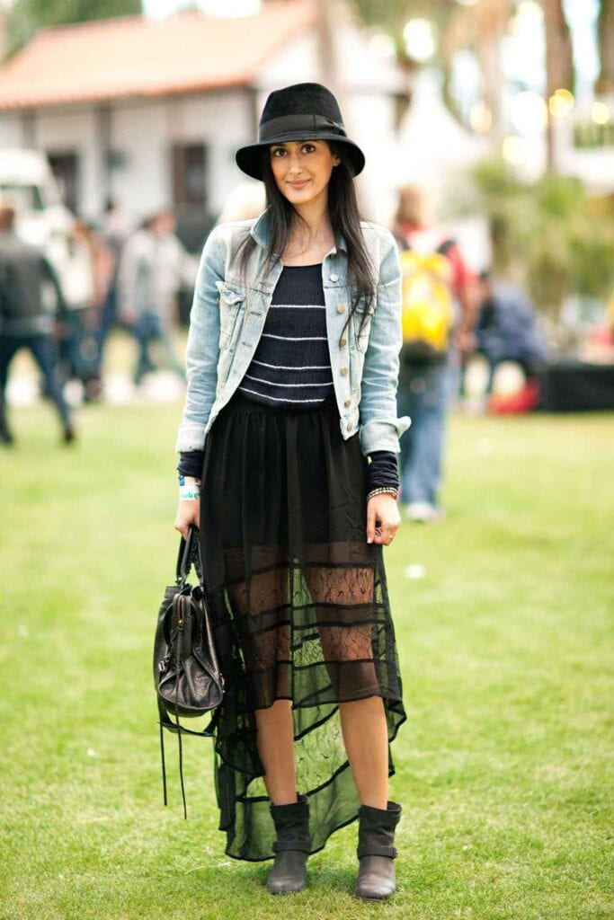 sheer-skirt-coachella-683x1024 Outfits with Sheer Skirts- 20 Ideas How to Wear Sheer Skirts